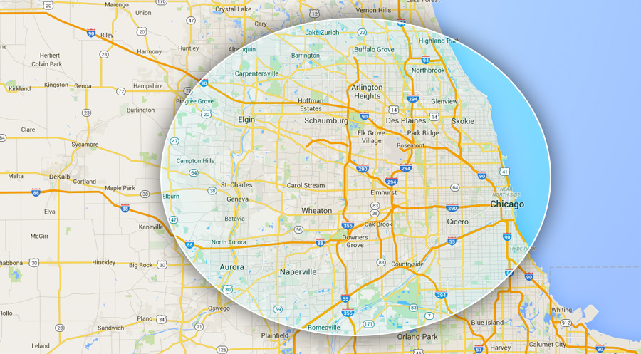 Contact Chicago Limo Coach 1 | (312) 731-5222 | Book Reservations Online - map1